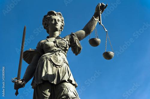 Leinwanddruck Bild Justicia