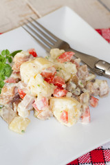 salade de pommes de terre et hareng