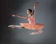 Leinwandbild Motiv Female ballet dancer