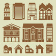 Vector set of houses icons