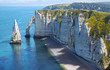 Chalk cliffs at Cote d'Albatre. Etretat - 53802167