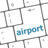airport on computer keyboard key enter button