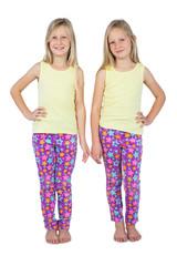 Little girls posing for the camera