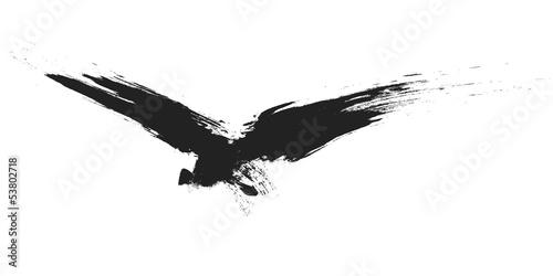 grunge bird - 53802718