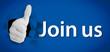 Social network logo representing thumb up