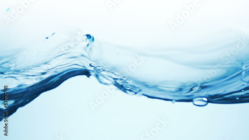 water splash with bubbles of air, slow motion