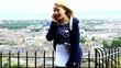 teenager on mobile phone edinburgh scotland