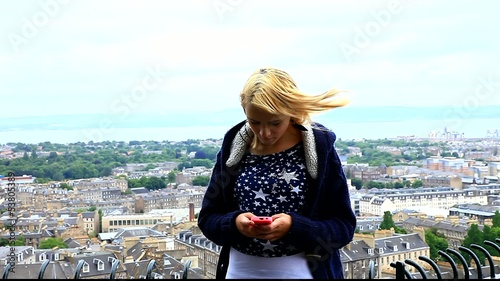 teenager texting edinburgh scotland