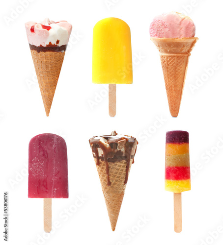 Icecream and popsicle set