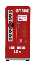 soft drink machine from fifties