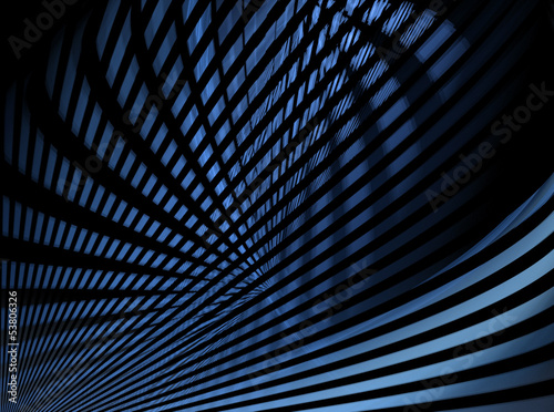 Abstract blue and black lines