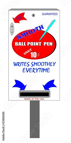 smooth ball point pen vending machine