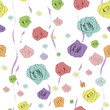 classical seamless rose pattern. Vector illustration