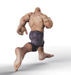 mr muscle running away