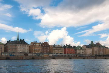 View of the old town of Stockholm. Sweden.