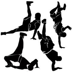 breakdance silhouette break dance