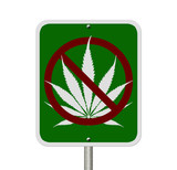 No Driving Under the Influence of  Marijuana poster