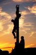 Crucifixion on Charles Bridge in Prague