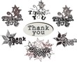 "Acknowledgments with ""thank you"" words"
