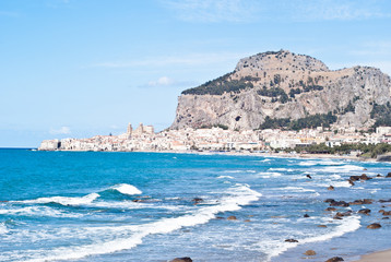 beach of cefalu, Sicily