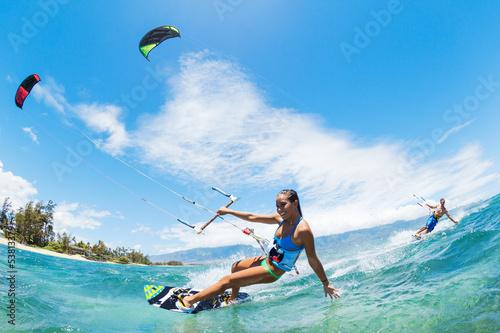 Fotobehang Extreme Sporten Kite Surfing