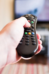 Changing channel with tv remote control