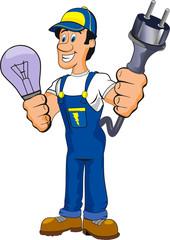electrician cartoon