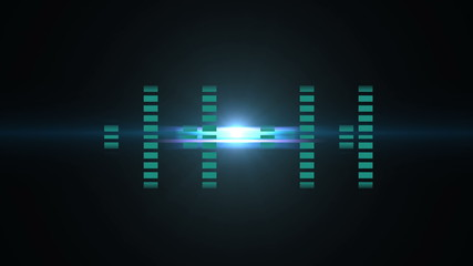 Blue sound bars