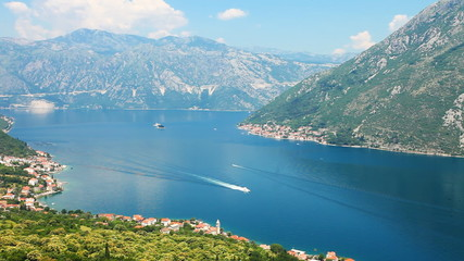 Nice mountain and sea view. Kotor. Montenegro
