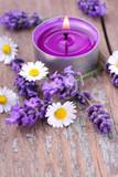 Fototapety Aromatherapie mit Lavendel