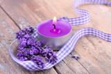 Fototapety Entspannende Aromatherapie mit Lavendel