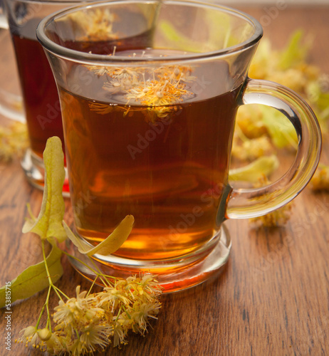 hot tea of linden flowers