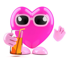 3d Heart drinks sensibly at the party
