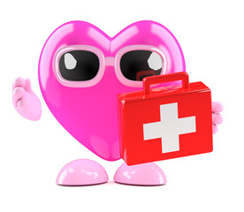3d Heart carries an emergency medi kit