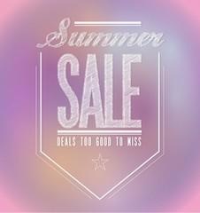 pinks summer sale poster sign banner
