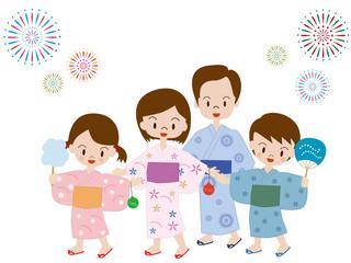 夏祭り 家族