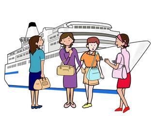 女子会で船旅