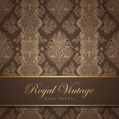 Vintage wallpaper design. Flourish background. Floral pattern