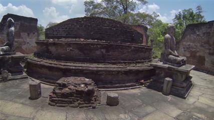 Landmarks of Sri Lanka. Ruined Buddhist temple.