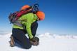 Winter glacier trekking