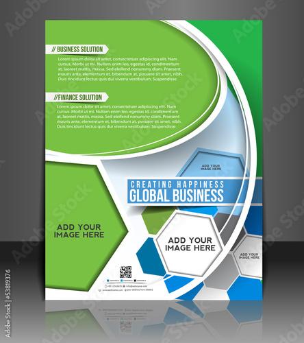 ector business brochure, flyer, magazine cover