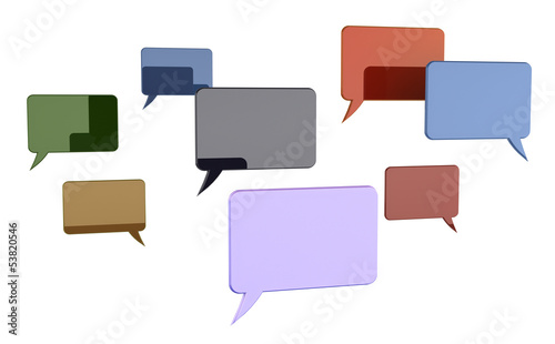 Speech bubbles concept