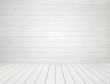 white wood wall and wood floor background