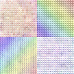 A set of three-dimensional backgrounds.