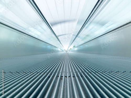 fast moving escalator