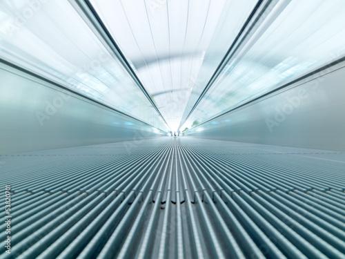 fast moving escalator