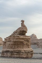 Fantastic rocks in Yardang landform, Dunhuang of China