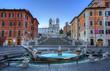 Leinwanddruck Bild - Spanish Steps in Rome. Italy.