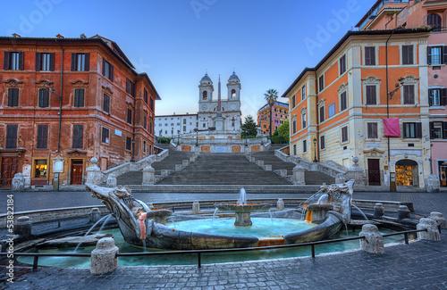 Leinwanddruck Bild Spanish Steps in Rome. Italy.