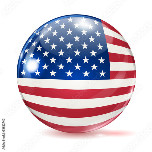 Flag of the United States in the form of ball